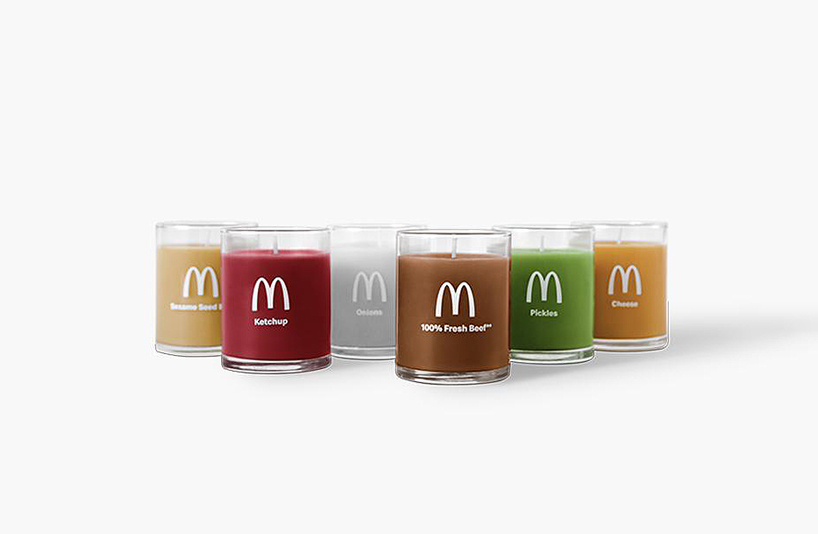 mcdonald's newly launched merchandise includes burger-scented candles - Designboom