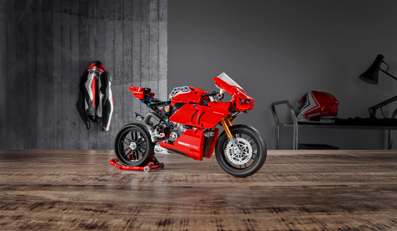 LEGO collaborates with ducati to build its first multi-gear super bike model - Designboom