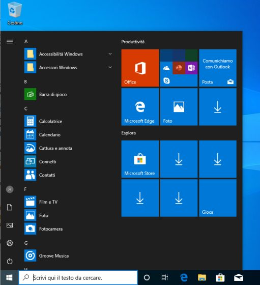 Menu Start Windows 10: come personalizzarlo - Il Software