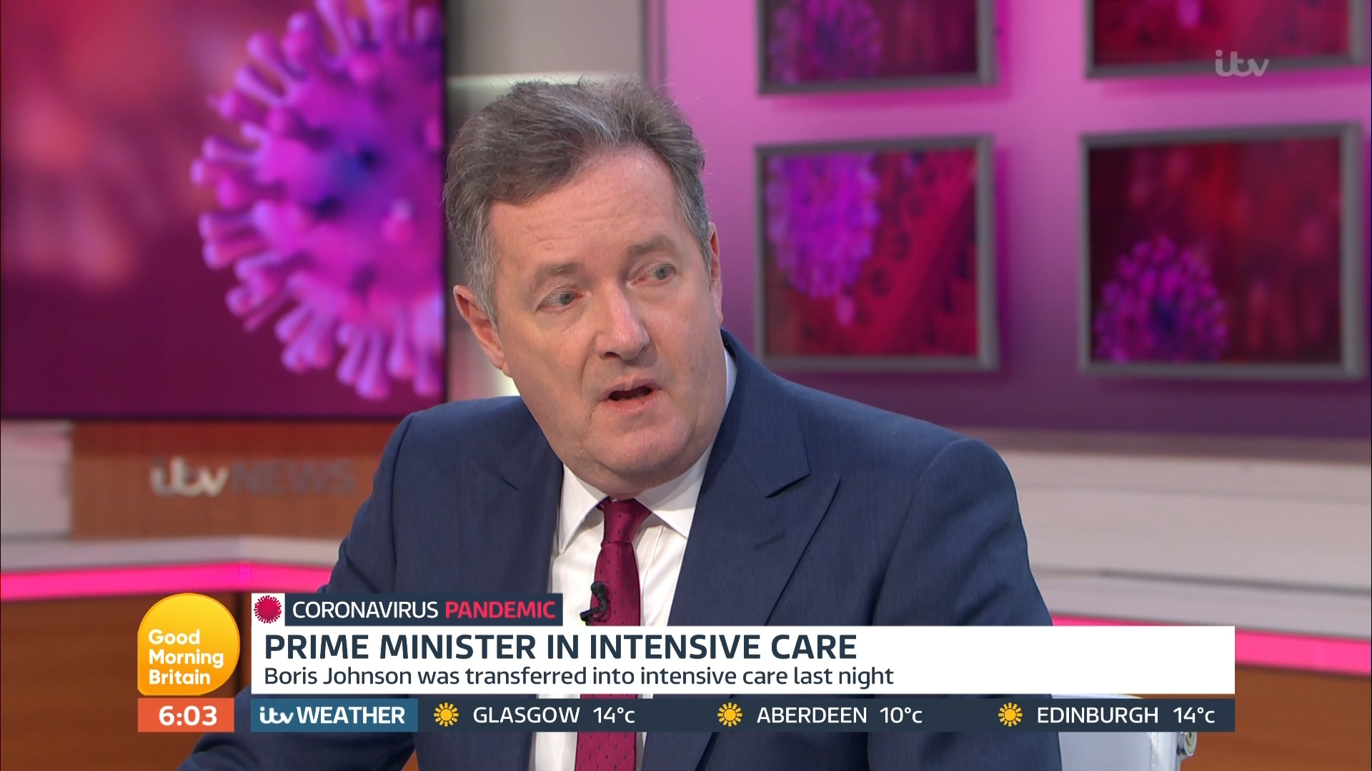 Piers Morgan coughs through first ten minutes of GMB as he begs the nation to rally behind sick Boris Johnson - The Sun