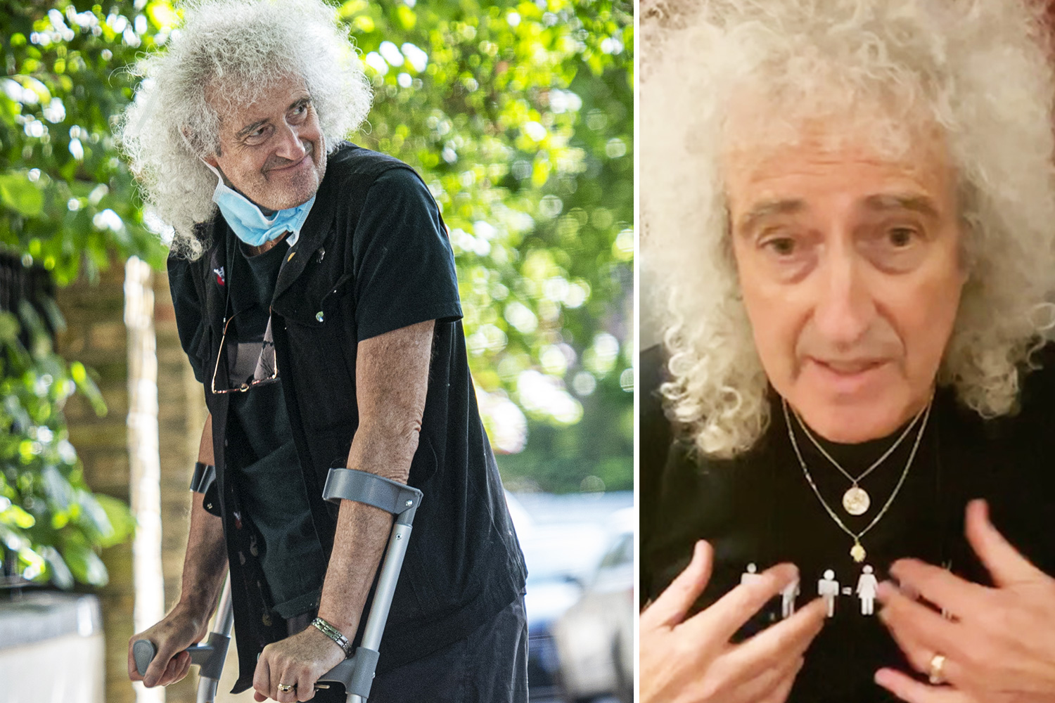 Brian May, 72, suffers heart attack as Queen guitarist says he was 'near death' after being rushed to hos - The Sun